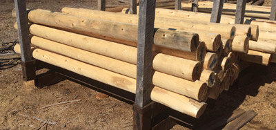 cedar fence posts rails