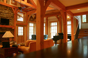 interior log home wood clear coat