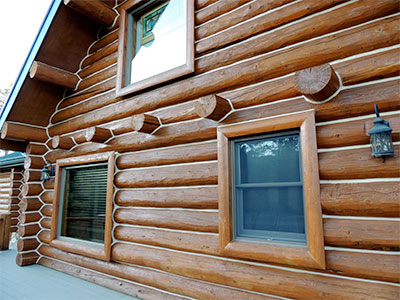 log home wood exterior clear coat
