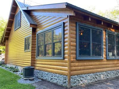 log home wood exterior clear coat